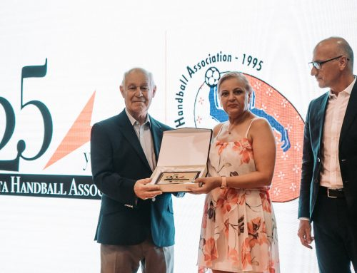 Presentation during The Malta Handball Association's 25th Anniversary